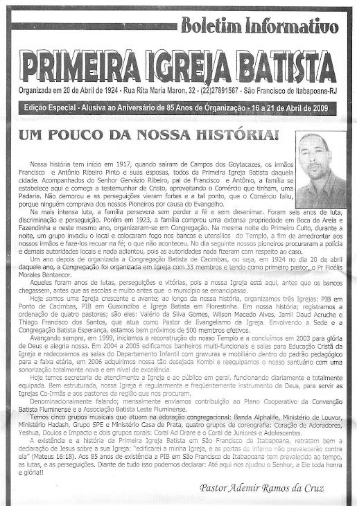P.I.B. São Francisco de Itabapoana-RJ