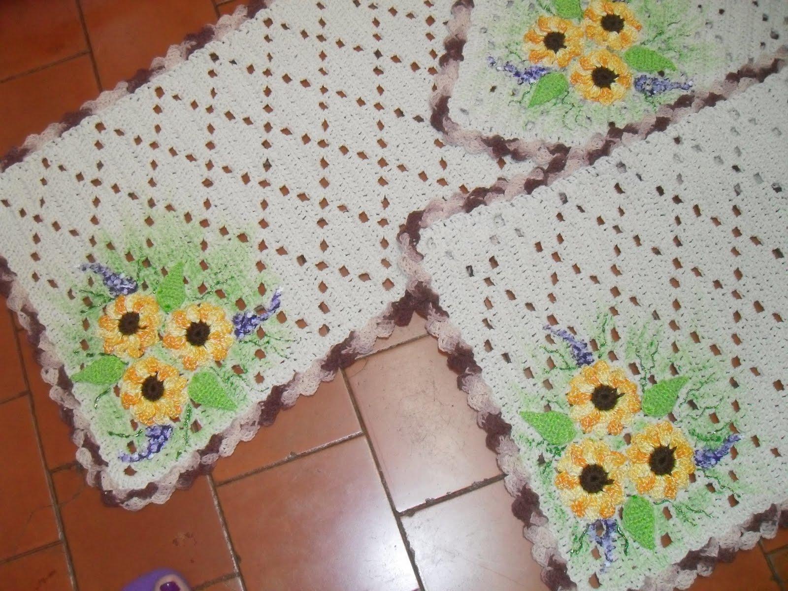 Grafico Tapetes Em Croche Flores Em Barroco