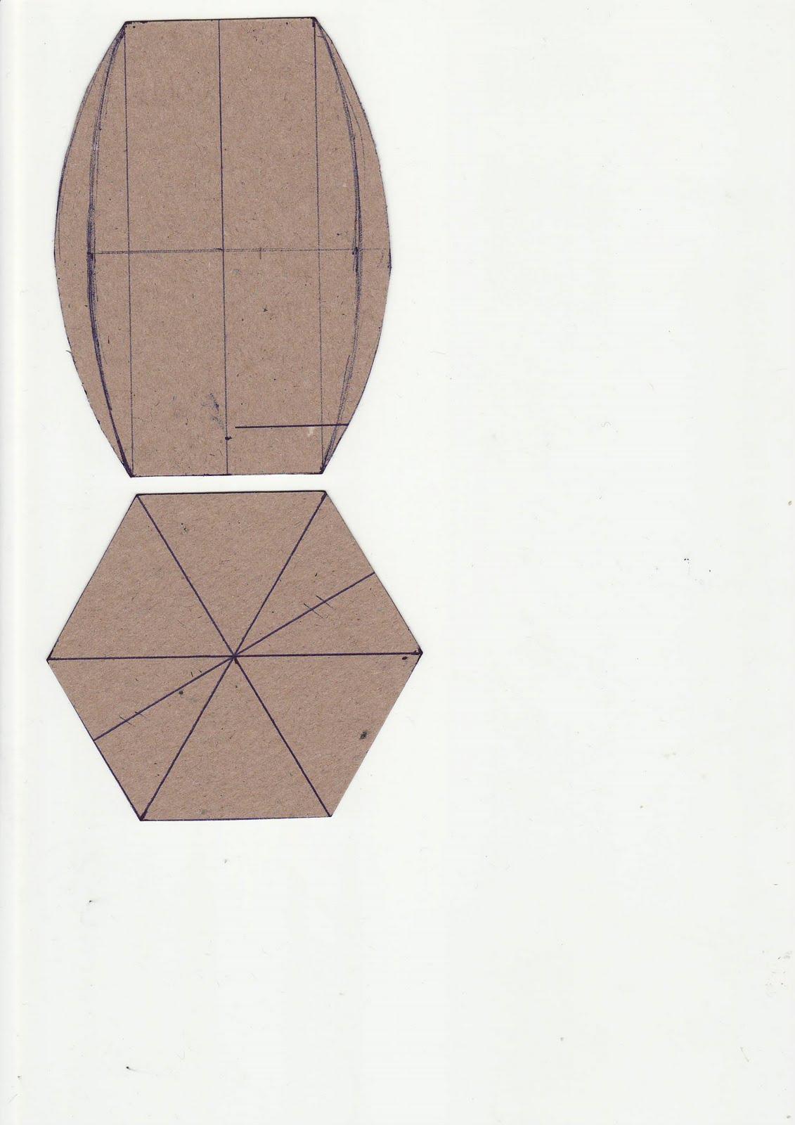 Трафарет шкатулки из открыток