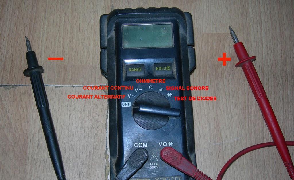 Bateau utilisation d 39 un multim tre for Utilisation d un ohmmetre