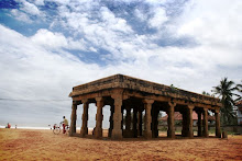 The kalmandapam at Shangumughom beach in Trivandrum city