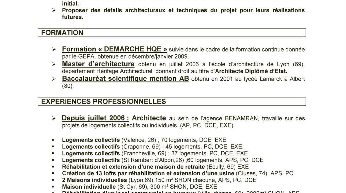 jmd architecte  curriculum vitae