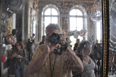 Self-portrait, Hall of Mirrors, Versailles, France