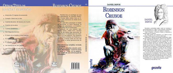 "Ilustracion de tapa para ""Robinson Crusoe"""