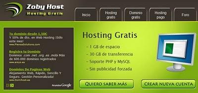 hosting gratis - Zoby Host