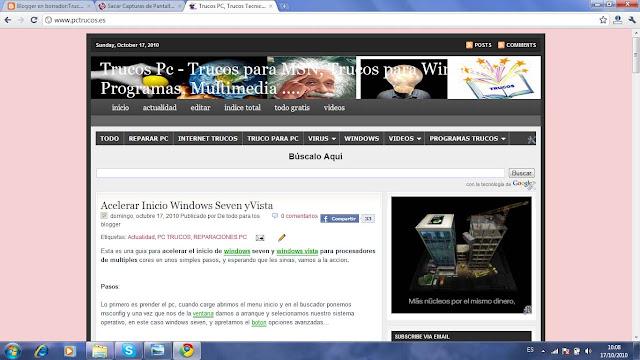 Hacer pantallazo con Google Chrome
