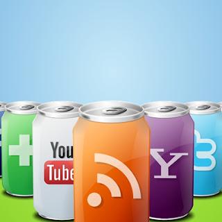 Menu de iconos sociales para blog