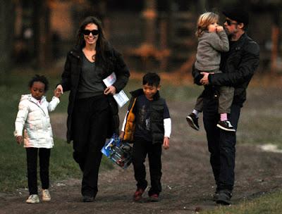 Pitt y Angelina Jolie familia feliz