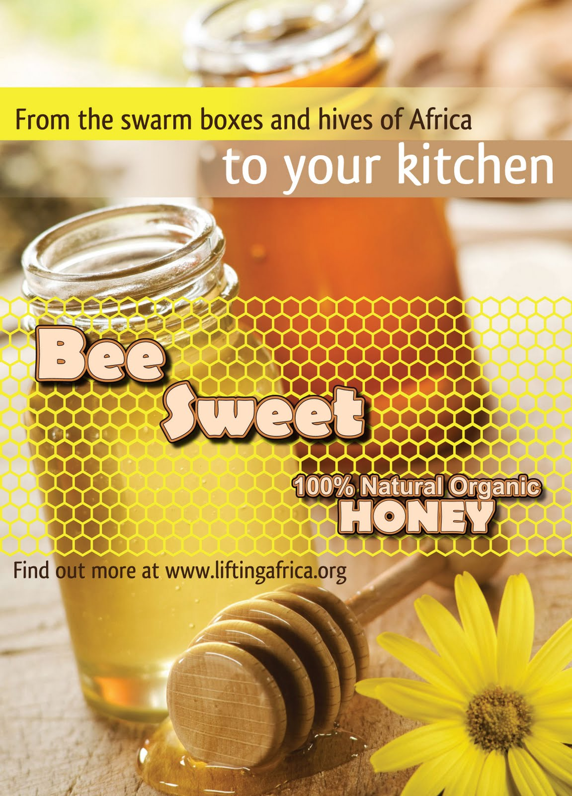 Publication Design [ElaineLorey]: Bee Sweet Honey Ad Revised