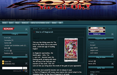 yugioh 5DS blogger template