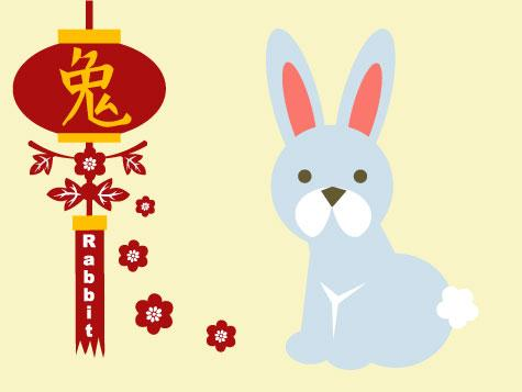 Chinese New Year Happy New Year 2011 rabbit Greeting Cards by GOLDENJACKAL
