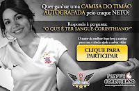 Camisa do Corinthians autografada pelo Neto