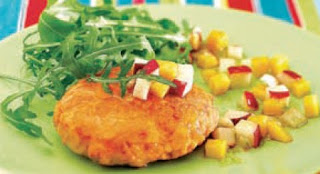 Receta Hamburguesa de Salmon con Salsa Especial