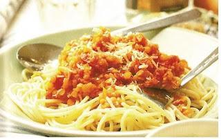Recetas Espaguetis Vegetarianos a la Boloñesa