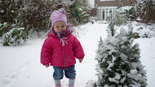 Brrr February snow for Keira