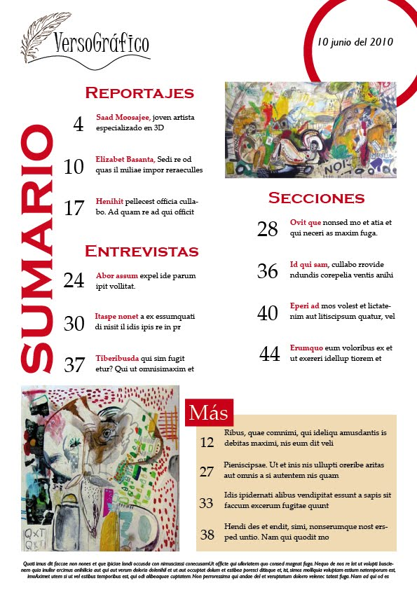 sumario revista verso grafico