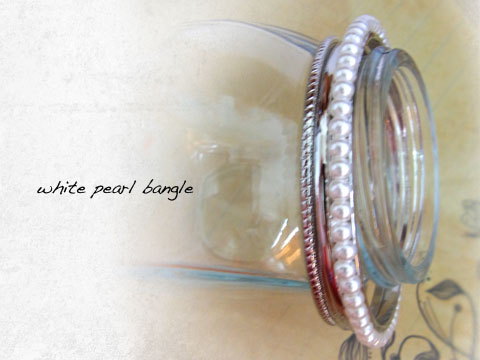 White Pearl Bangle