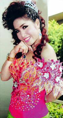 bun thailine khmer star in custom dress