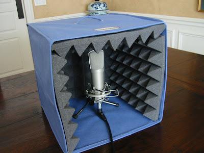 самодельная студия для записи звука