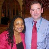 Miranda Grell with Jon Cruddas