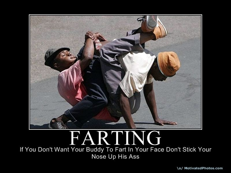 in face Farting someones