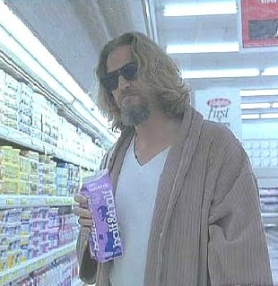 The Dude in the supermarket from The Big Lebowski