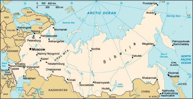 Russia Map With Moscow