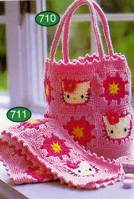 Japanese Crochet Pattern Book Sanrio Hello Kitty BAG