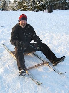 Mr A on toboggan