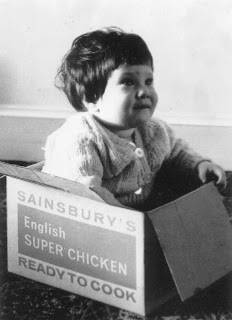 Lola II in 1971 in an 'English Super Chicken' cardboard box