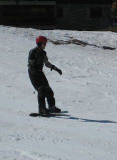 Andy snowboarding