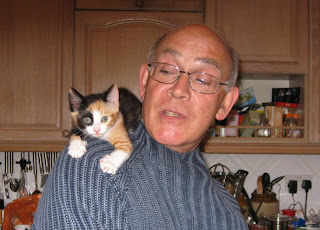 Hugh and the new kitten