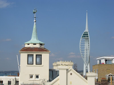 Portsmouth skyline with weather vane and Spinnaker Tower