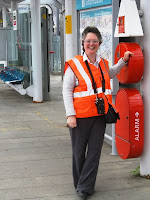 Me at the station in high vis jacket and walky talky