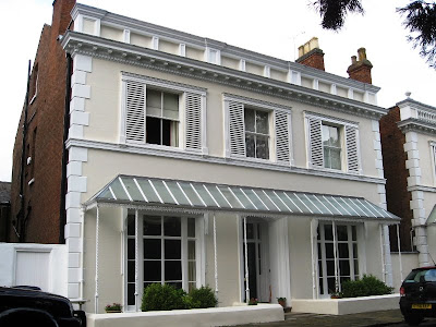 A grand double-fronted two-storey Regency house in Leamington Spa