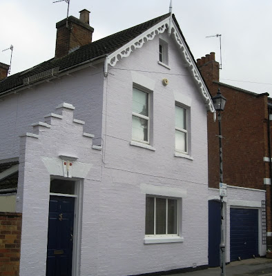 Front view of the house after painting