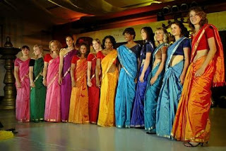 Foreigners in Indian Saree
