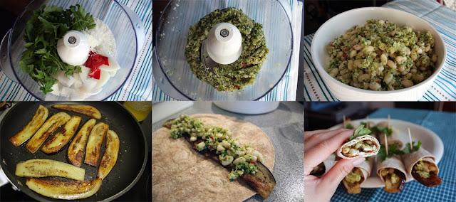 Oppskrift Vegetar Vegan Hvite Bønner Wrap Aubergine Kokosmasse Tapas Tortilla Lefse