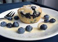 Blåbær Muffins Vaniljesaus Vegan Blueberry Vanilla Sauce