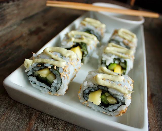 Oppskrift Hjemmelaget Sushi Uramaki Vegetar Vegan Hvordan Lage Wasabimajones