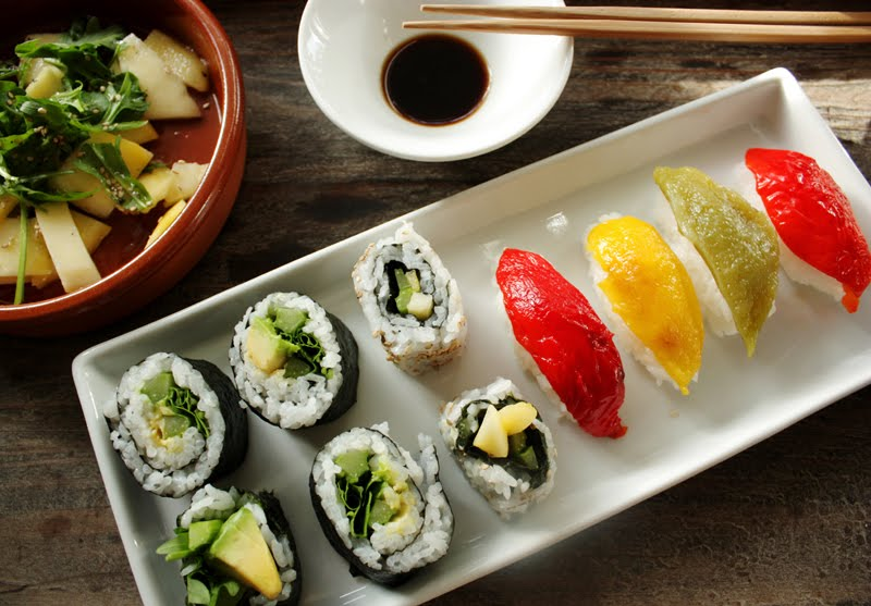 Sushi kan lages vegansk!