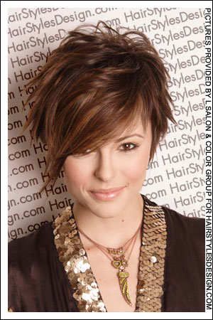 Photo of 2005 blonde fringe hairstyle.