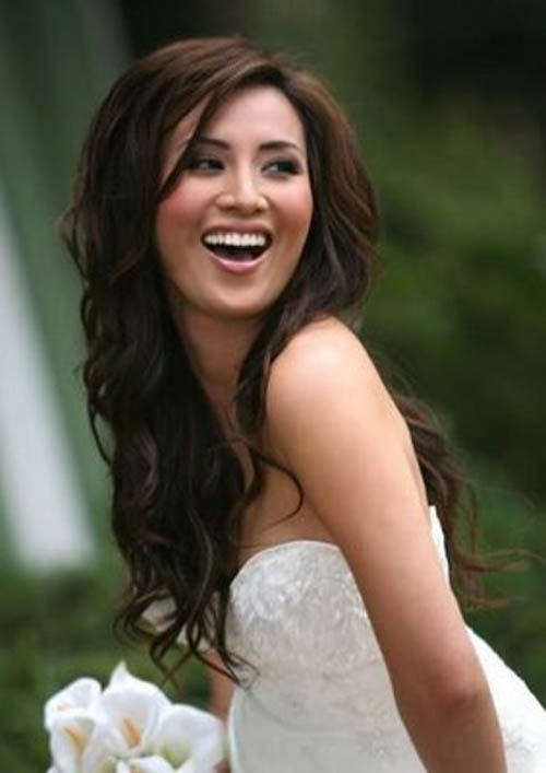 wedding hairstyles for medium hair with. Long layered hair may take a