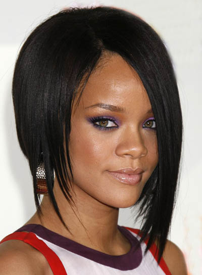 rihanna short hairstyles with bangs. Rihanna Short Hairstyles