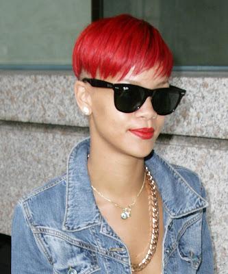 Latest Trendy Short Rihanna Hairstyle 2010 2011