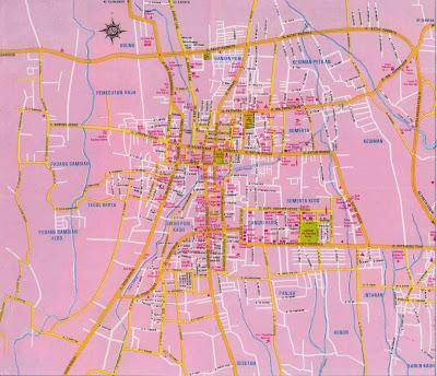 Peta Kota Denpasar Tourist Indonesia