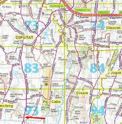 Gambar Peta Kota Ciputat Tangerang Selatan