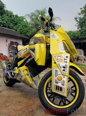 Modifikasi Yamaha Mio Bumblebee 2010