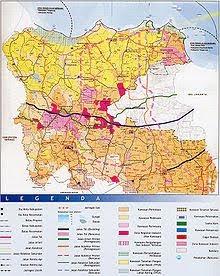 Gambar Peta Besar: Peta Kota Tangerang - Gambar Ukuran Besar
