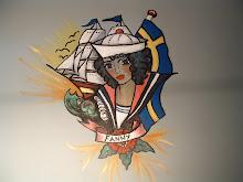 Väggmålning på Vänermuséet i Lidköping 2008